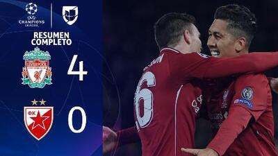 Liverpool 4-0 Estrella Roja - GOLES Y RESUMEN - Grupo C UEFA Champions League