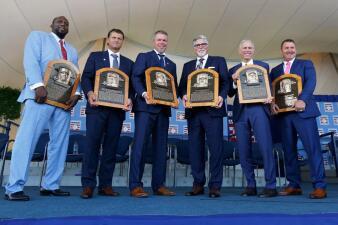 En fotos: Los mejores momentos de la clase 2018 del Salón de la Fama del béisbol