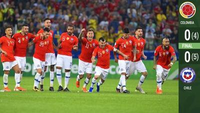 El campeón es el campeón: Chile venció a Colombia en Cuartos de Copa América