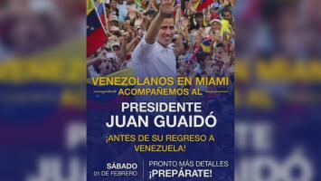 Juan Guaidó planea visitar Miami antes de regresar a Venezuela