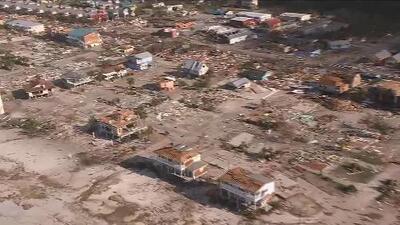 Completamente devastado: imágenes aéreas de Mexico Beach, la 'zona cero' del huracán Michael