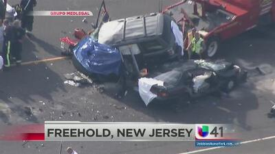 Aparatoso accidente en Freehold, New Jersey