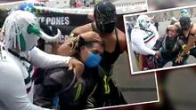 Luchadores enmascarados promueven el uso de cubrebocas en la Ciudad de México