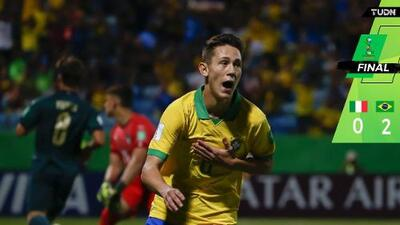 Brasil venció 2-0 a Italia y enfrentará a Francia