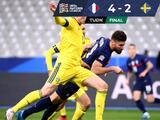 Doblete de Giroud impulsa remontada de Francia sobre Suecia