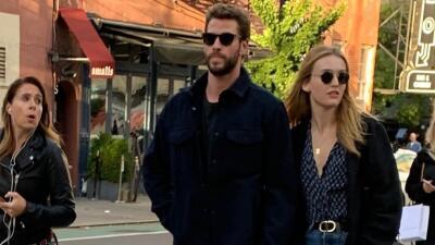 Las fotos de Liam Hemsworth tomado de la mano con una actriz rubia tras su separación de Miley Cyrus