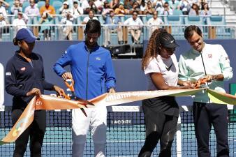 En fotos: así fue la inauguración oficial del Miami Open en manos de los grandes del tenis