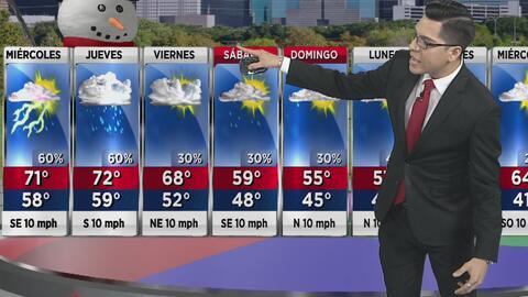 Alta posibilidad de lluvia, el pronóstico del tiempo para este miércoles en Houston