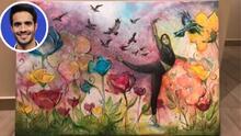 Ektor Rivera pintó esta obra en Mira Quién Baila y ahora la subasta con un fin benéfico