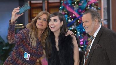 Sofía Carson le enseñó a Lili cómo tomarse la 'selfie' perfecta