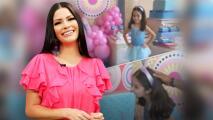 Con un pastel de cuatro pisos y mordida, Ana Patricia celebra la gran fiesta de cumpleaños de Giulietta