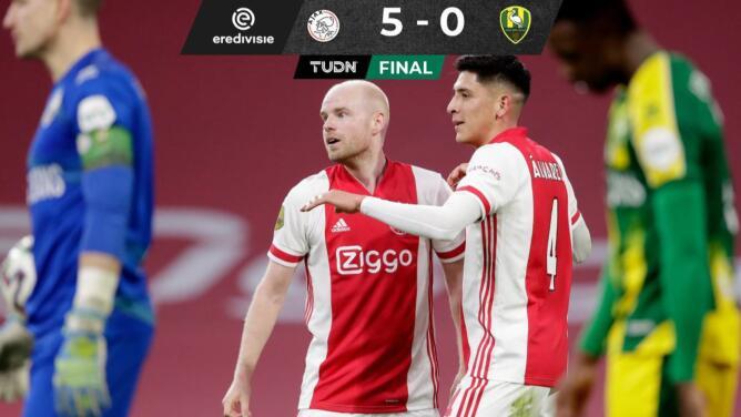 Edson Álvarez se estrena como goleador con Ajax en la Eredivisie