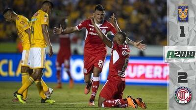 Tigres 1-2 Toluca - RESUMEN - LIGA MX - CUARTA FECHA