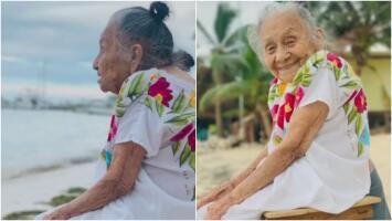 Esta abuela mexicana conoce el mar a los 97 años y hace realidad uno de sus sueños