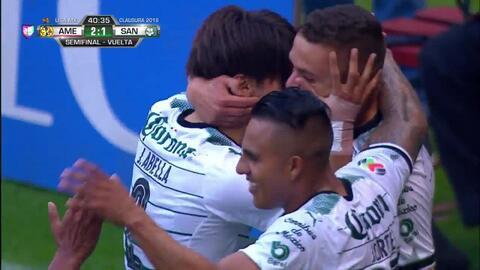 ¡GOOOL! Jonathan Rodríguez anota para Santos Laguna