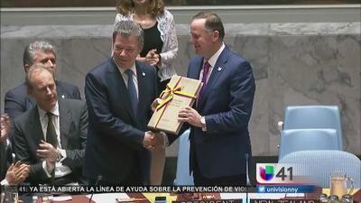 Juan Manuel Santos promete paz en Colombia ante la Asamblea General de la ONU