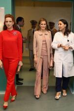 La reina Letizia visita a mujeres con cáncer