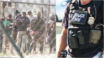 Detienen a casi 700 migrantes en el mayor operativo de ICE