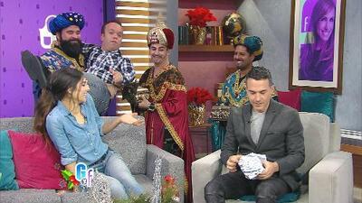 Los Reyes Magos llegaron hoy a El Gordo y La Flaca repartiendo regalos que provocaron risas