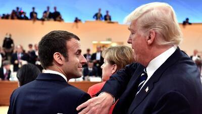 La extraña pareja: Trump y Macron, juntos en el Día Nacional de Francia