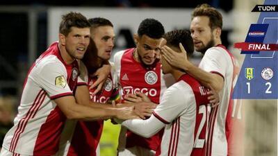 Edson Álvarez disputa últimos minutos en triunfo del Ajax