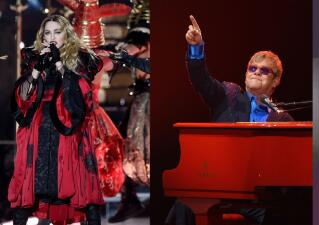 Madonna y Elton John homenajearon a Bowie