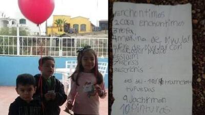 Esta niña escribió una carta a Santa y la envió en un globo: al otro lado de la frontera alguien la recibió