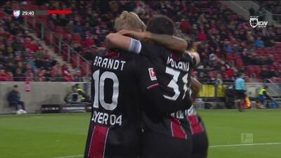 ¡No hay defensa que resista una pared! Golazo del Bayer al Mainz