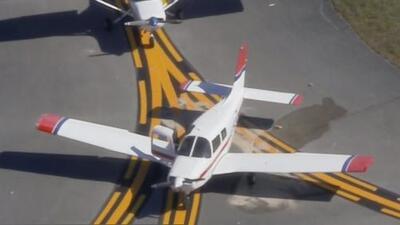 Una avioneta cae a la pista del aeropuerto North Perry de Pembroke Pines