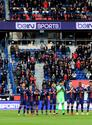 Soccer Football - Ligue 1 - Paris St Germain v Bordeaux - Parc des Princes, Paris, France - February 9, 2019 General view of Paris St Germain players during a minute's applause in memory of Emiliano Sala before the match REUTERS/Gonzalo Fuentes