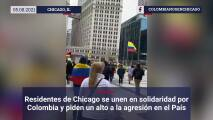 Residentes de Chicago se unen en solidaridad por Colombia y piden un alto a la agresión en el País