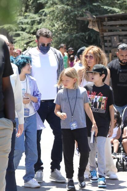 Jennifer Lopez y Ben Affleck en Universal Studios