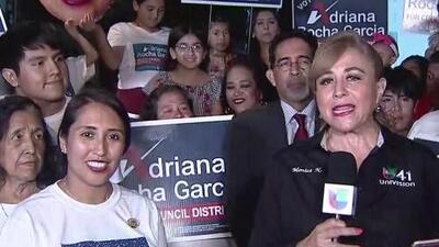 Adriana Rocha mostró su optimismo al ir en la delantera en las elecciones por el Distrito 4