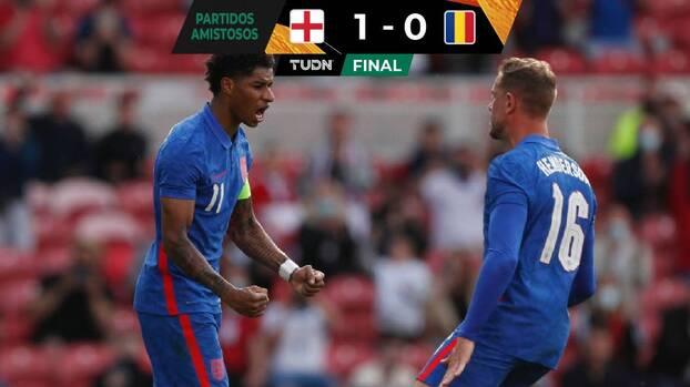 Inglaterra termina su preparación a la Euro superando a Rumania
