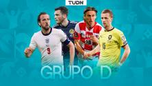 Inglaterra es favorito para liderar el Grupo D