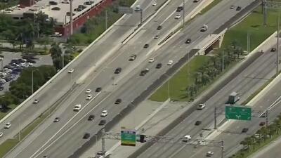 Inician los trabajos de instalación de marcadores de plástico en la Autopista Palmetto: dos sendas estarán cerradas