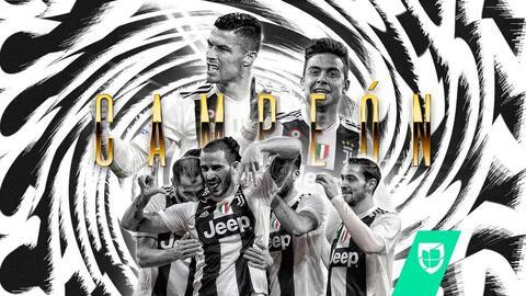 ¡Juventus y Cristiano son campeones de Italia! vencieron a la Fiorentina y tienen el Scudetto