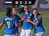 ¡Puro 'jogo bonito'! Brasil venció 2-0 a Canadá en la Shebelives Cup