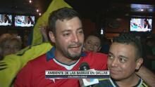 Chilenos y colombianos disfrutaron el partido