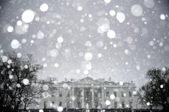 Fotos: La tormenta de nieve cubre a Washington DC de blanco