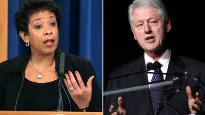 """La 'inapropiada"""" reunión de Bill Clinton con Loretta Lynch que cuestiona la investigación de los emails"""