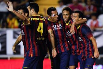 Barcelona golea al Rayo Vallecano