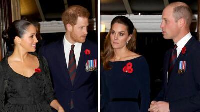 'Los cuatro fantásticos' juntos de nuevo: Meghan, Harry, Kate y William se reúnen en el Festival del Recuerdo