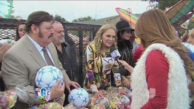 Ramón Ayala le regaló alegría a varias familias en una posada