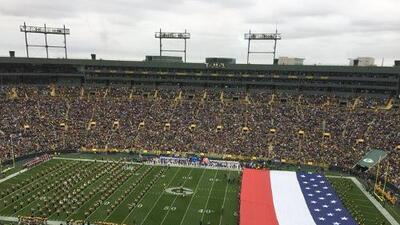 ¿Qué dirá Trump? Packers confunden la bandera de Estados Unidos