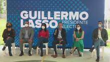 El presidente electo de Ecuador Guillermo Lasso presentó parte de su gabinete político