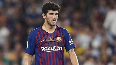 Carles Aleñá, molesto por su cambio de número en el Barcelona
