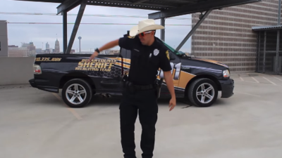 "Bexar County Sheriff does ""The Git Up"" challenge"
