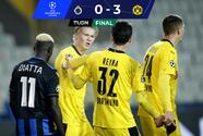 Haaland endemoniado... anota doblete y Dortmund gana a Brujas