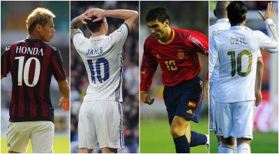Los dorsales '10' más decepcionantes del futbol